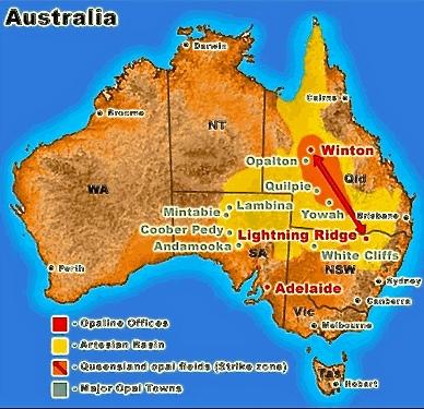 australian opal towns,opal mining,australian opal mining,opal mines,black opal mining towns